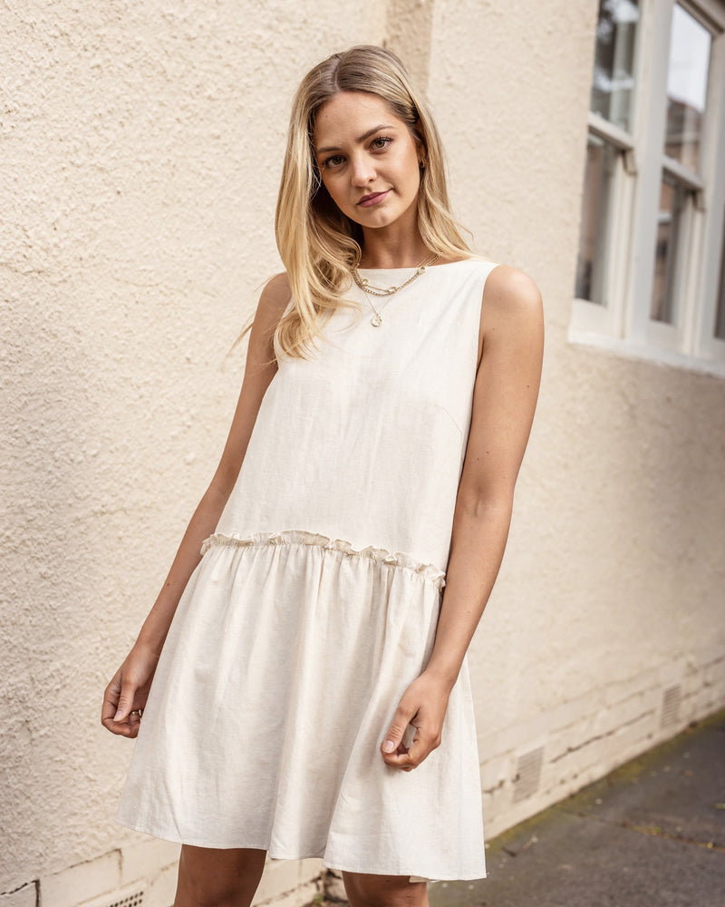 Calinda Linen Cotton Dress