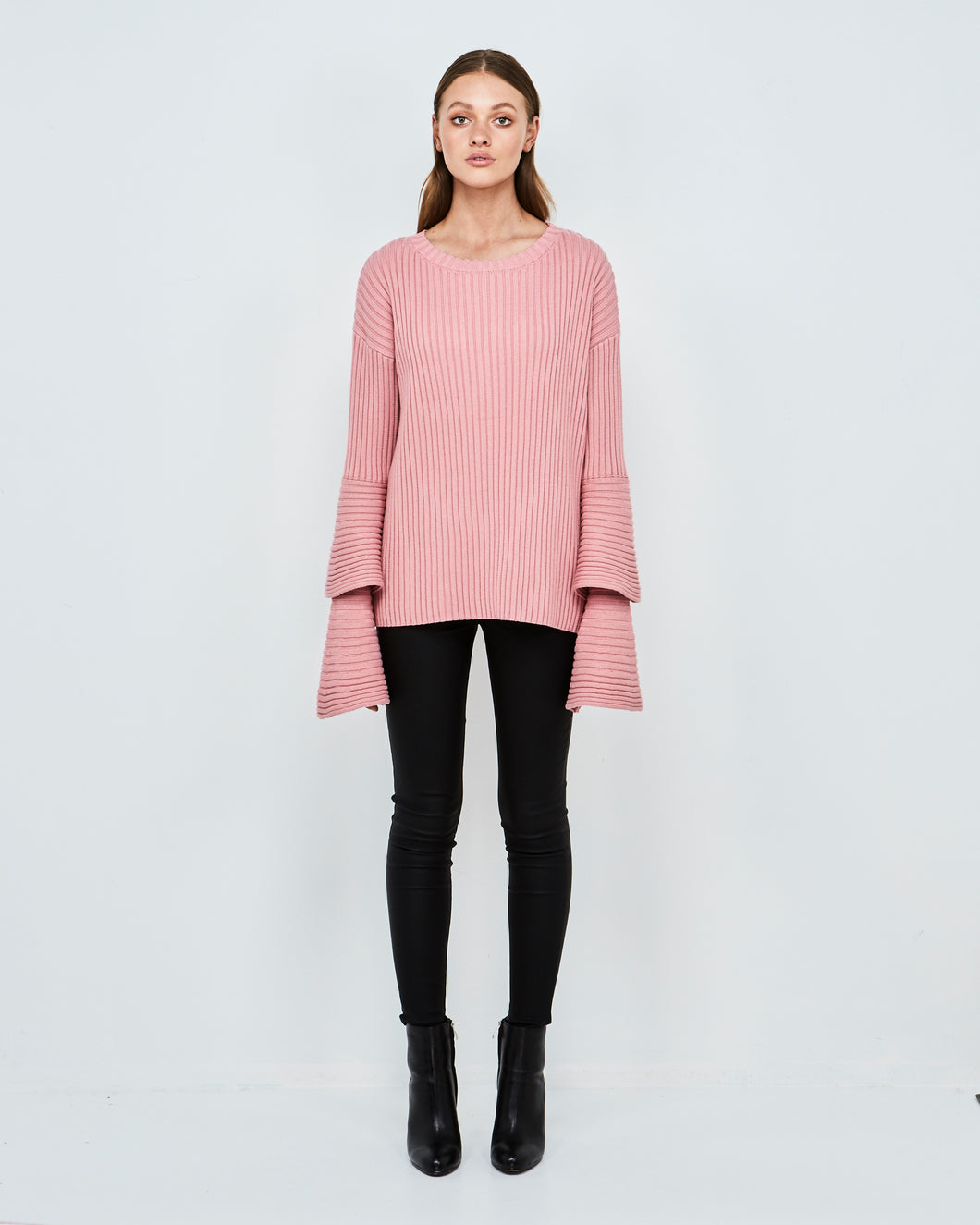 Emillie Constrast Knit (Rose Pink)