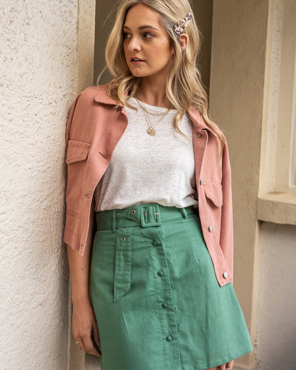 Kyra Button Up Skirt