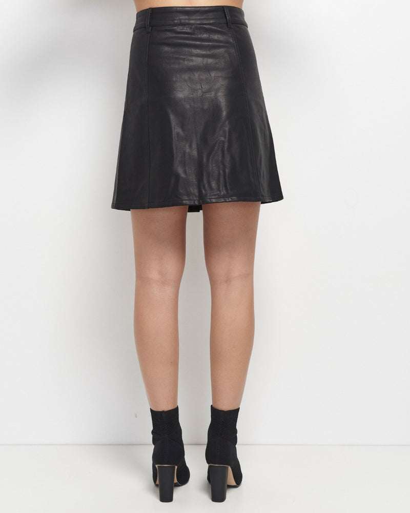 Stevie Vegan Leather Skirt