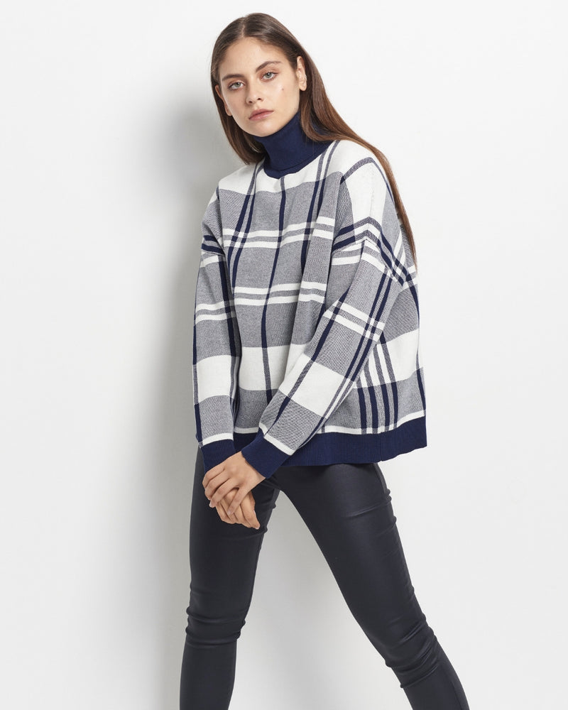 Ariella Check Knit