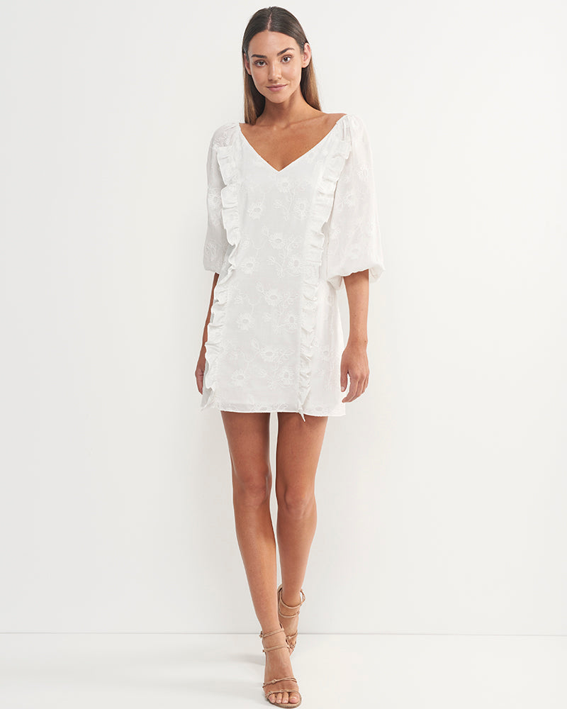 Bella Embroidered Cotton Dress