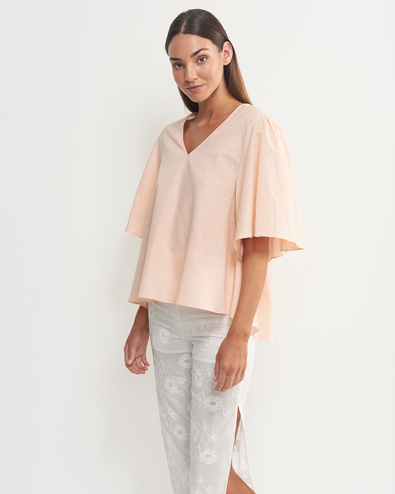 Eli Linen Cotton Top