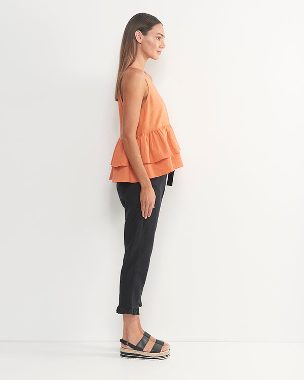 Andre Linen Cotton Top (Sherbert Orange)