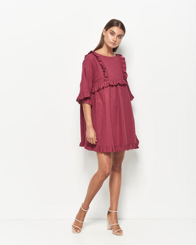 Lyla Cotton Linen Dress
