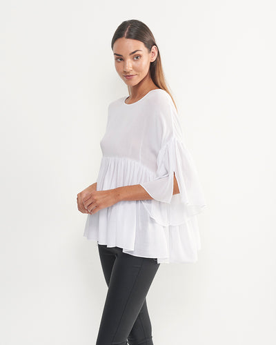 Elinor Cotton Top (White)