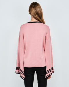 Valeria Knit (Rose Pink/Black)