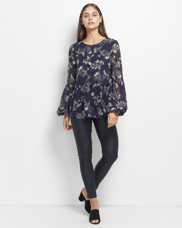 Laylah Exclusive Floral Print Top