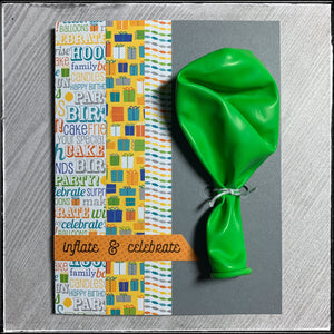 #the100dayproject : handmade card 21/100-2 : inflate & celebrate