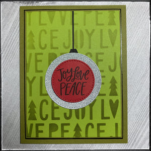 #the100dayproject : handmade card 22/100-2 : joy love peace