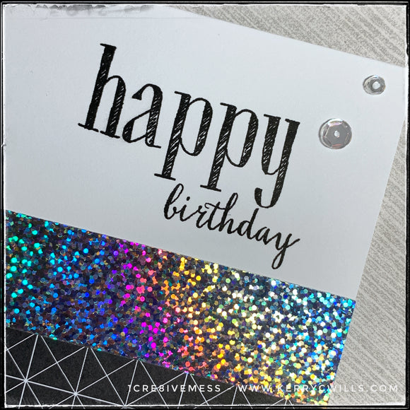 #the100dayproject : handmade card 26/100-2 : happy birthday