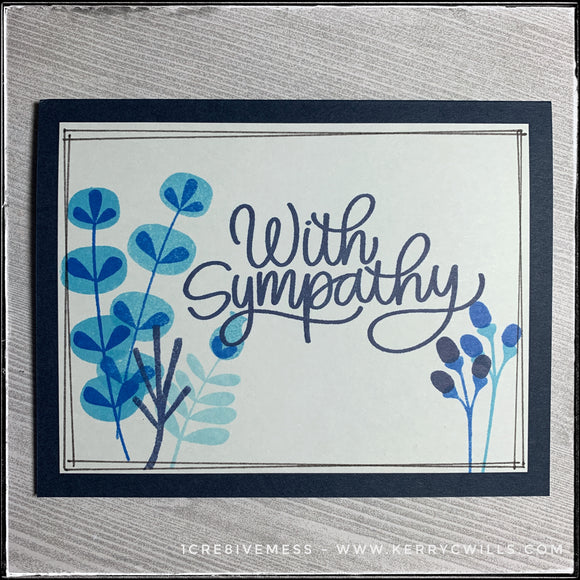#the100dayproject : handmade card 28/100-2 : with sympathy
