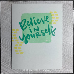 #the100dayproject : handmade card 29/100-2 : believe in yourself