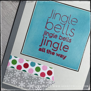 #the100dayproject : handmade card 34/100-2 : jingle all the way