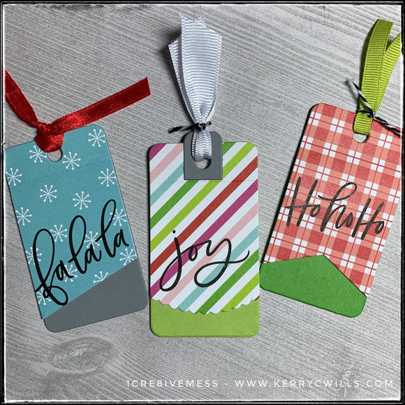 #the100dayproject : handmade tags 37/100-2 : holiday tags