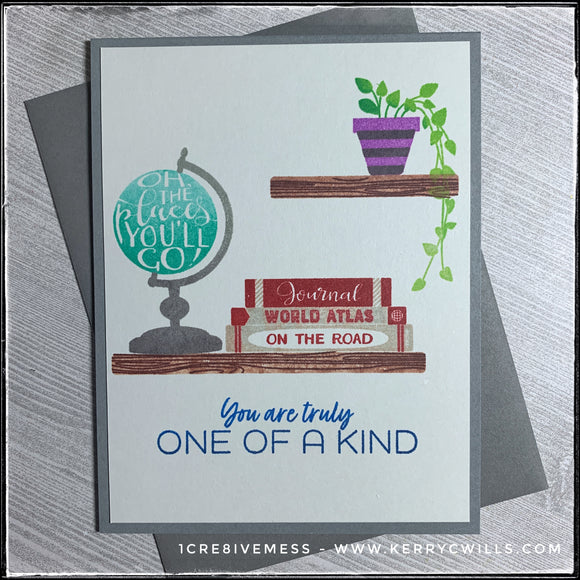 #the100dayproject : handmade card 54/100-2 : one of a kind
