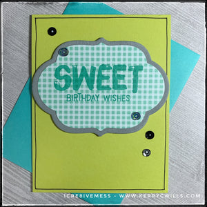 #the100dayproject : handmade card 55/100-2 : sweet birthday wishes