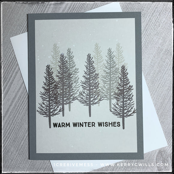 #the100dayproject : handmade card 63/100-2 : warm winter wishes
