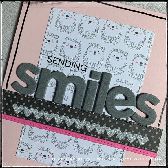 #the100dayproject : handmade card 67/100-2 : sending smiles