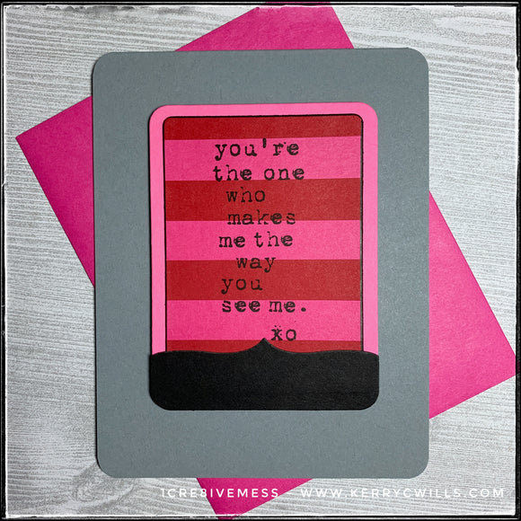 #the100dayproject : handmade card 74/100-2 : the way you see me