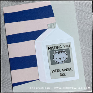 #the100dayproject : handmade card 80/100-2 : missing you