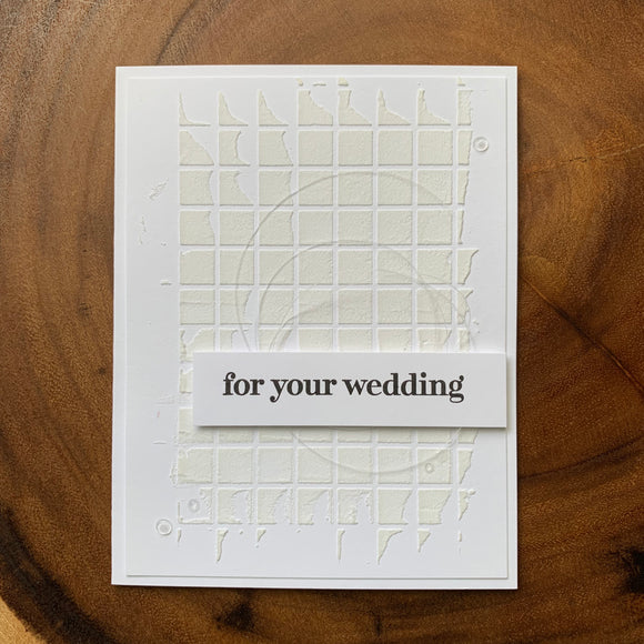 For Your Wedding [White]