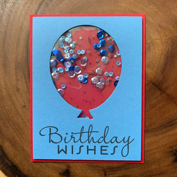 Shaker Birthday Wishes [Blue + Red]