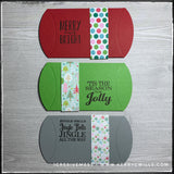 Winter Holiday Pillowboxes - Set of 3