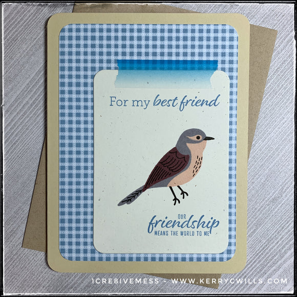 Your Friendship Means The World To Me Handmade Card