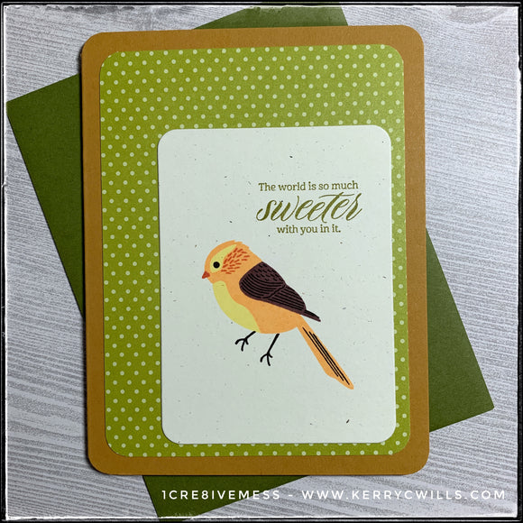 The World Is Much Sweeter Handmade Card