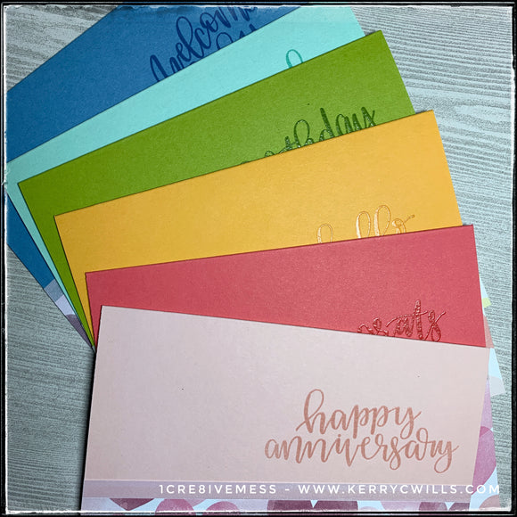 Set - Rainbow Heart All Occasion Handmade Cards - Style Two