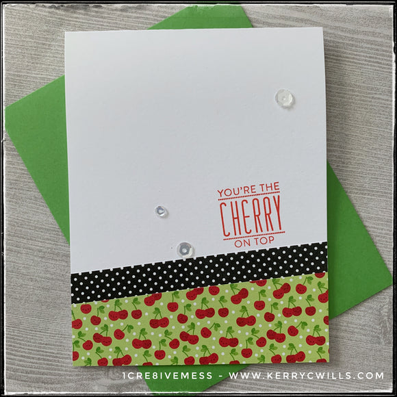 You're The Cherry On Top Handmade Card