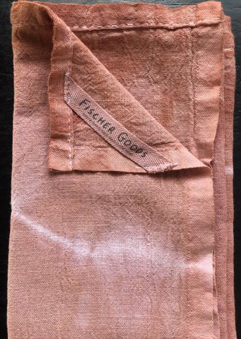 Natural Dyed tea Towel - Quebracho Rojo