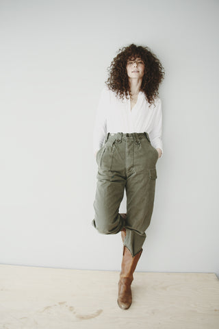 Cargo pocket military pant