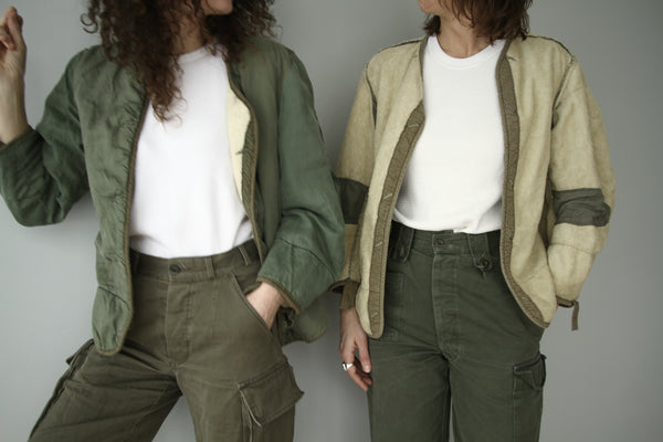 Military lined jacket - reversible
