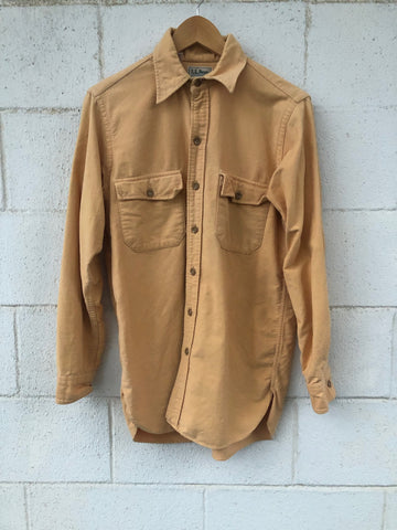 LL-Bean Gold Flannel