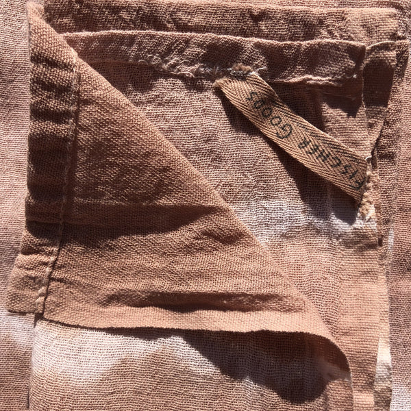 Natural Dyed tea Towel - 50% Quebracho Rojo, 50% Wattle
