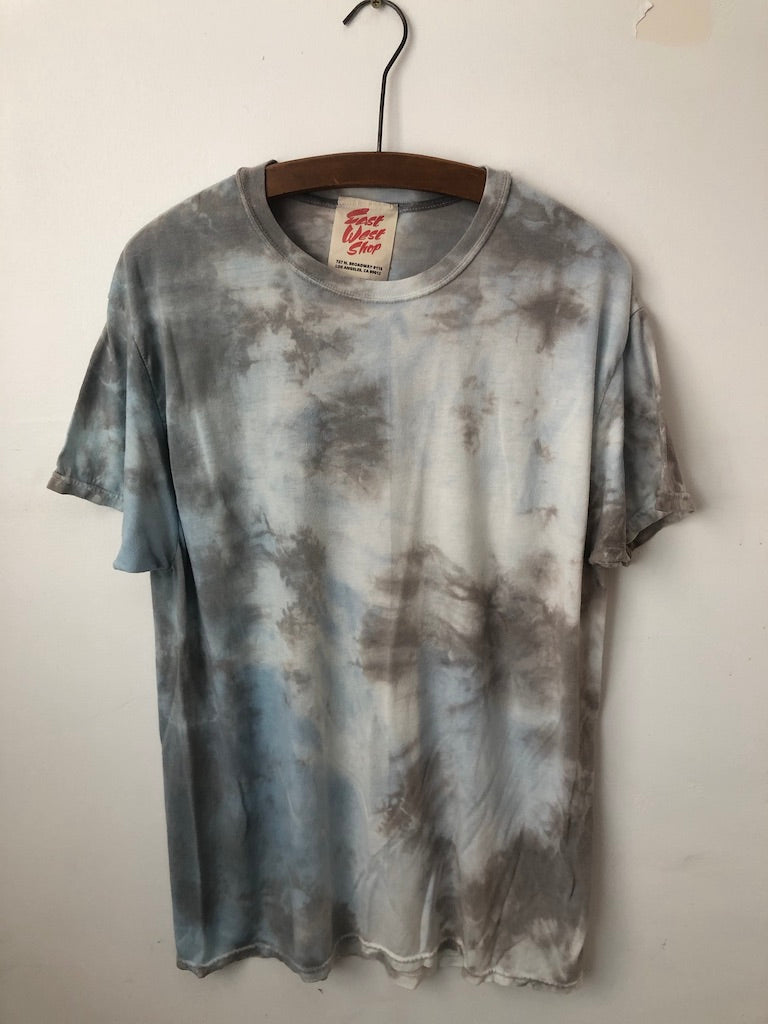 Natural Dyed Cotton T - Indigo + Chestnut, iron
