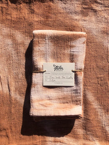 Natural Dyed Tea Towel - Cutch