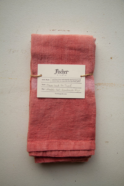 Natural Dyed Tea Towel - Madder Root