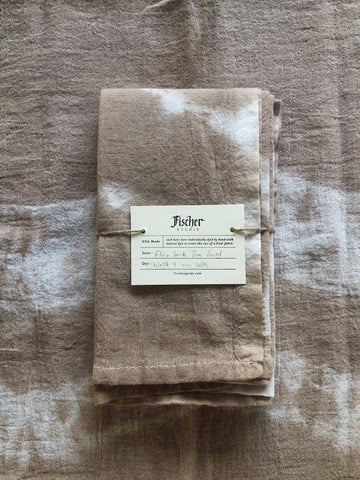Natural Dyed Tea Towel - Wattle + Iron