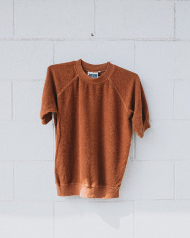 Short Sleeve Sherpa Raglan in Terra Cotta - Jungmaven