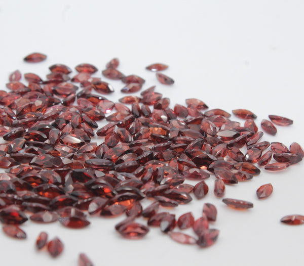 Garnet 3X6 MM Marquise Faceted
