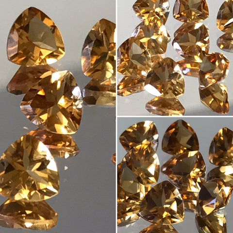 Citrine 7 MM Trillion Facted AA Color