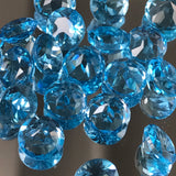 Swiss Blue Topaz 6 MM Round Facted 10 Pcs Lot AAA Quality