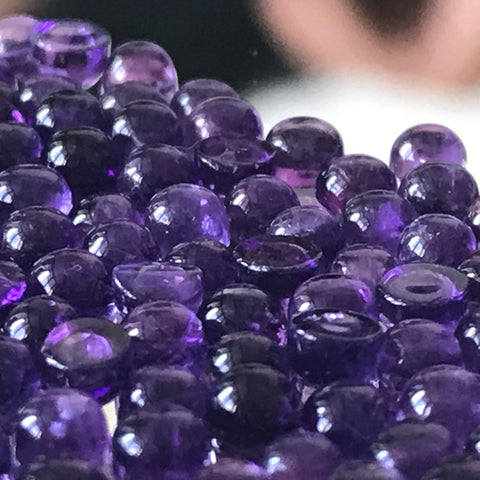 Amethyst 5 MM Round Cabochons Lot of 10 Pieces