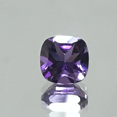 Amethyst 8 MM Cushion Faceted AA Quality