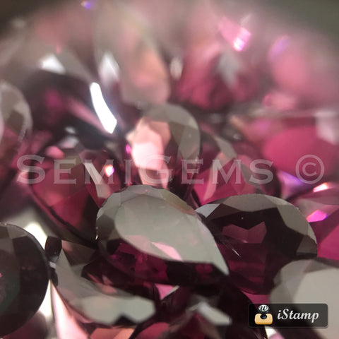 Rhodolite Garnet 5X7 Pear Shape Facted
