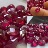 Ruby Glass-Filled 6x8 MM Oval Faceted