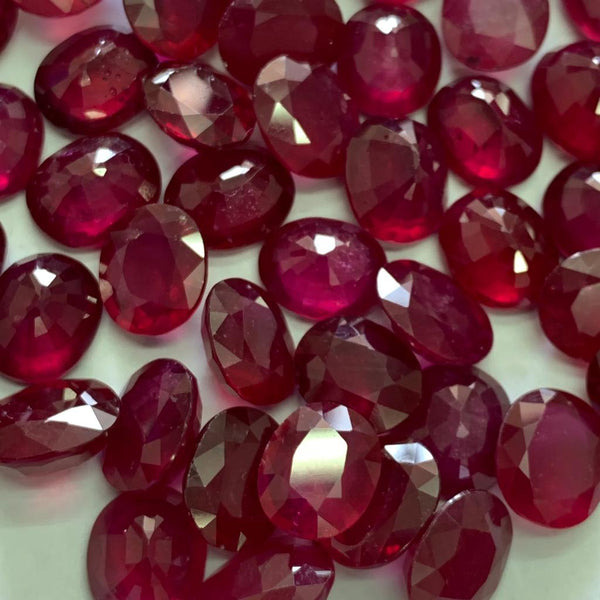 Ruby Glass-Filled 9X11 MM Oval Faceted